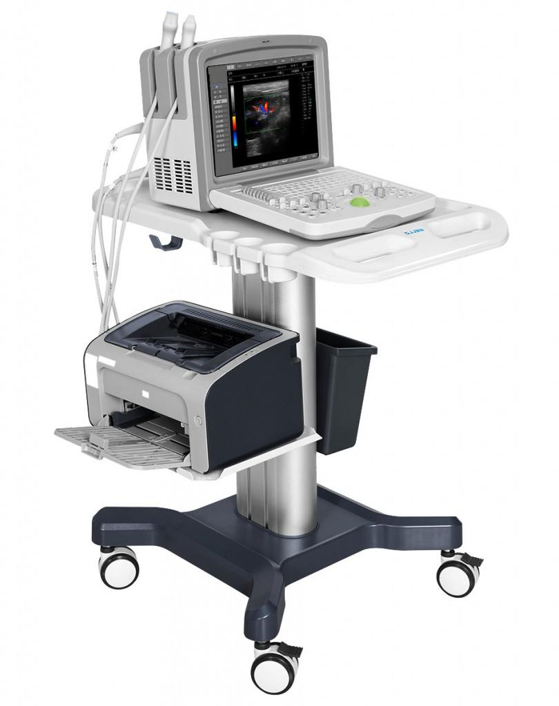 Портативный ветеринарный ультразвуковой аппарат с цветным допплером AcuVista VT880i для ветеринарных клиник, для выездов, на тележке