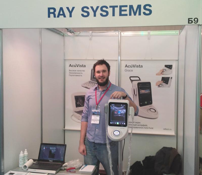 Ветеринарный ультразвуковой сканер AcuVista Grace на выставке NVC 2015