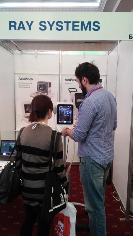 Ветеринарный УЗИ сканер AcuVista Grace на выставке NVC 2015